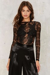Rare London Mariah Lace Bodysuit Black