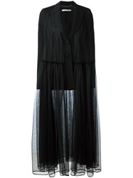 Givenchy Pleated Tulle Blazer Black