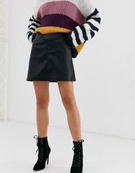 Blank Nyc Faux Leather Mini Skirt Black