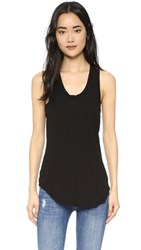 Cotton Citizen The Mykonos Racer Tank Jet Black