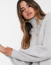 Ted Baker Sylinaa Roll Neck Jumper Grey