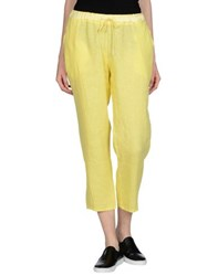 Rossopuro Trousers Casual Trousers Women Yellow