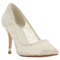 Dune Bridal Collection Aisle Faux Pearl Heel Court Shoes Ivory