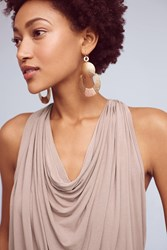 Anthropologie Draped Halter Top Taupe