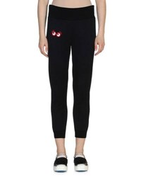 Fendi Googli Eye Sweatpants Black
