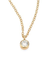 Zoe Chicco Diamond And 14K Yellow Gold Pendant Necklace