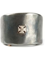 Rosa Maria 'Kim' Cross Ring Metallic