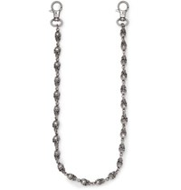 Vetements Skull Gunmetal Tone Wallet Chain Silver
