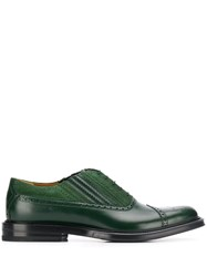 Gucci Lace Up Brogues Green