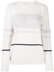 Peserico Striped Relaxed Fit Jumper Neutrals