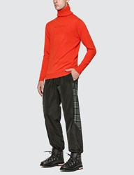 Ambush Turtle Neck Embossed Knit Orange