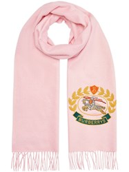 Burberry The Classic Cashmere Scarf With Archive Logo Pink And Purple