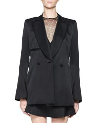 Olivier Theyskens Tosca Satin Bell Sleeve Jacket Black