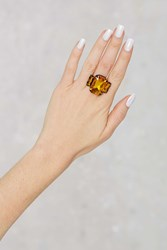 Nasty Gal Your Powers Combined Rhinestone Ring Orange
