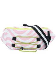 House Of Holland Wavy Print Belt Bag Pink And Purple