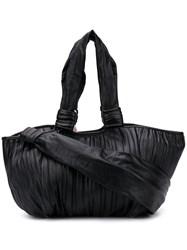 Max Mara Large Pleated Tote Black