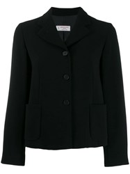 Alberto Biani Cropped Box Blazer Black