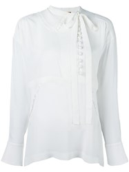 N 21 No21 High Neck Blouse White