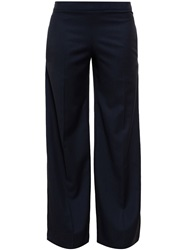 J.W.Anderson J.W. Anderson Button Back Wide Leg Trousers Blue