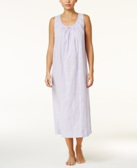 Charter Club Lace Trimmed Embroidered Nightgown Only At Macy's Light Amethyst