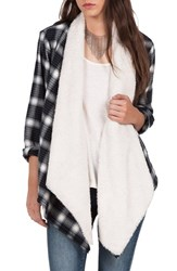 Volcom Women's Runnin' Hot Plaid Cardigan