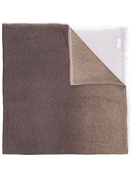 Faliero Sarti Graduated Colour Scarf Brown