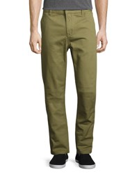 Wesc Eddy Flat Front Chino Pants Olive