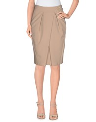 Vdp Collection Skirts Knee Length Skirts Women Beige