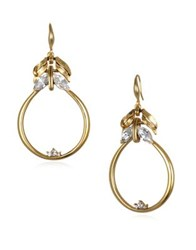 Badgley Mischka Metallic Drop Earrings Gold