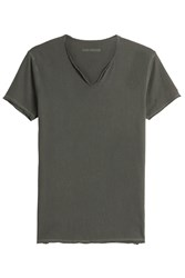 Zadig And Voltaire Monas Mc Overdyed Cotton T Shirt Green