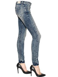 Iro Skinny Fit Washed Stretch Cotton Denim