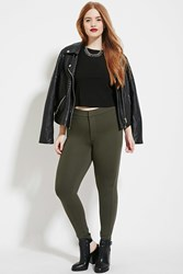 Forever 21 Plus Size Skinny Pants Olive