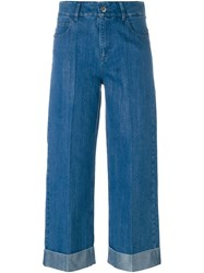 Each X Other Wide Leg Cropped Jeans Blue