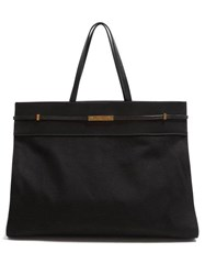 Saint Laurent Manhattan Large Canvas Tote Bag Black
