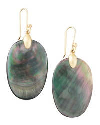 Ted Muehling Large Black Mother Of Pearl Chip Earrings