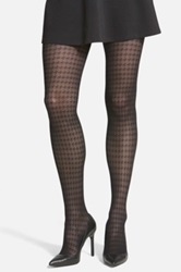 Vince Camuto Houndstooth Tights Black