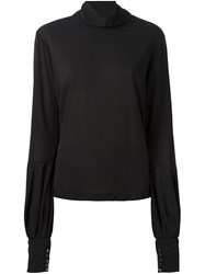 Giorgio Armani Roll Neck Blouse Black