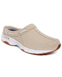 Easy Spirit Travelport Mules Women's Shoes Natural Multi