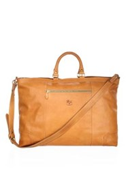 Il Bisonte Continuative Leather Satchel Natural