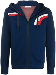 Bally Zipped Hoodie Blue