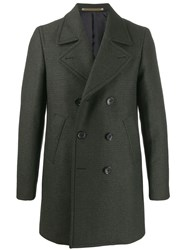 Paul Smith Ps Double Breasted Coat Green
