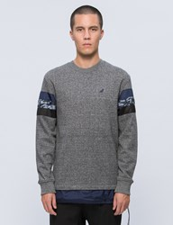 Staple Mixed Stripe Crewneck Sweatshirt