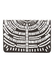 Jane Norman Black And Silver Satin Beaded Clutch Bag