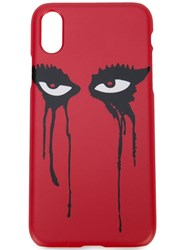 Haculla Moody Eyes Iphone Xs Case Red