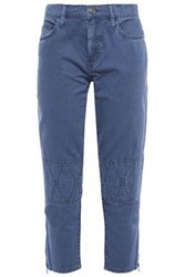 Current Elliott Woman Cropped Cotton Twill Tapered Pants Indigo
