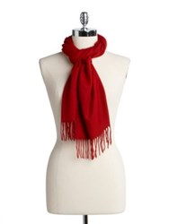 Lord And Taylor Solid Knit Scarf Beige