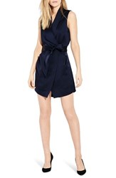 Ayr The Perch Wrap Dress Deep Marine