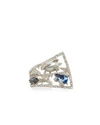 Alexis Bittar Crystal Mosaic Lace Fan Ring