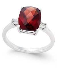 Macy's Rhodolite Garnet 3 1 2 Ct. T.W. And Diamond Accent Ring In Sterling Silver