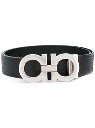 Salvatore Ferragamo Double Gancio Buckle Belt Black